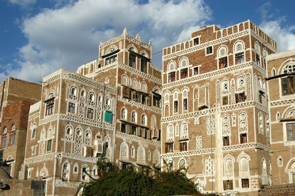 The Arabia Felix Hotel (left) is in a traditional Sana'a tower house