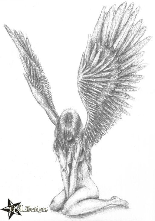 coloring pages of fallen angels - photo#46