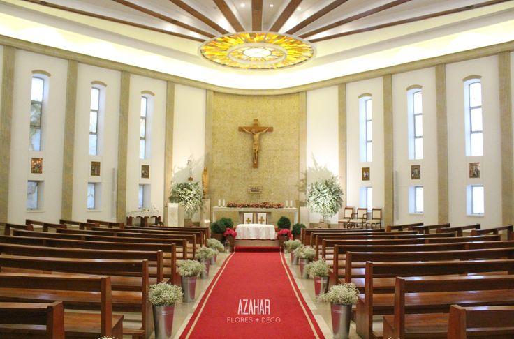 Decoración Capilla Colegio Cumbres. #church #deco #flores #matrimonio