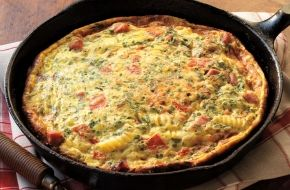 Check out this delicious recipe for What's in the Fridge Frittata from Weber—the world's number one authority in grilling.