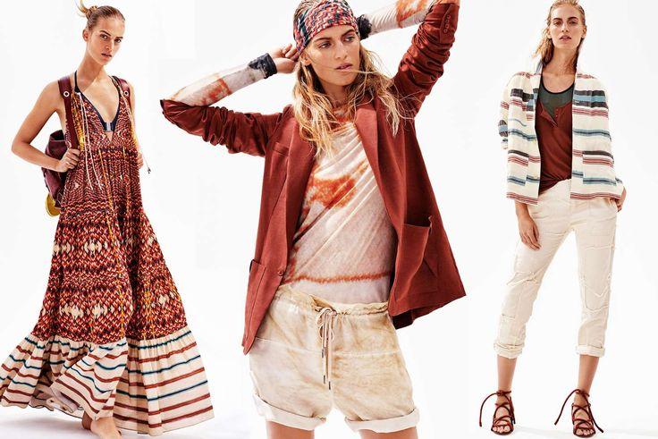 Efter sidste sæsons sviptur til det ydre rum er H&M's Studio collection tilbage på Jorden med funktionelle jakker, lange, flagrende kjoler, off-the-shoulder-bluser og rygsække i bomuldskanvas. Her er, hvad der sker, når boho møder sportswear.