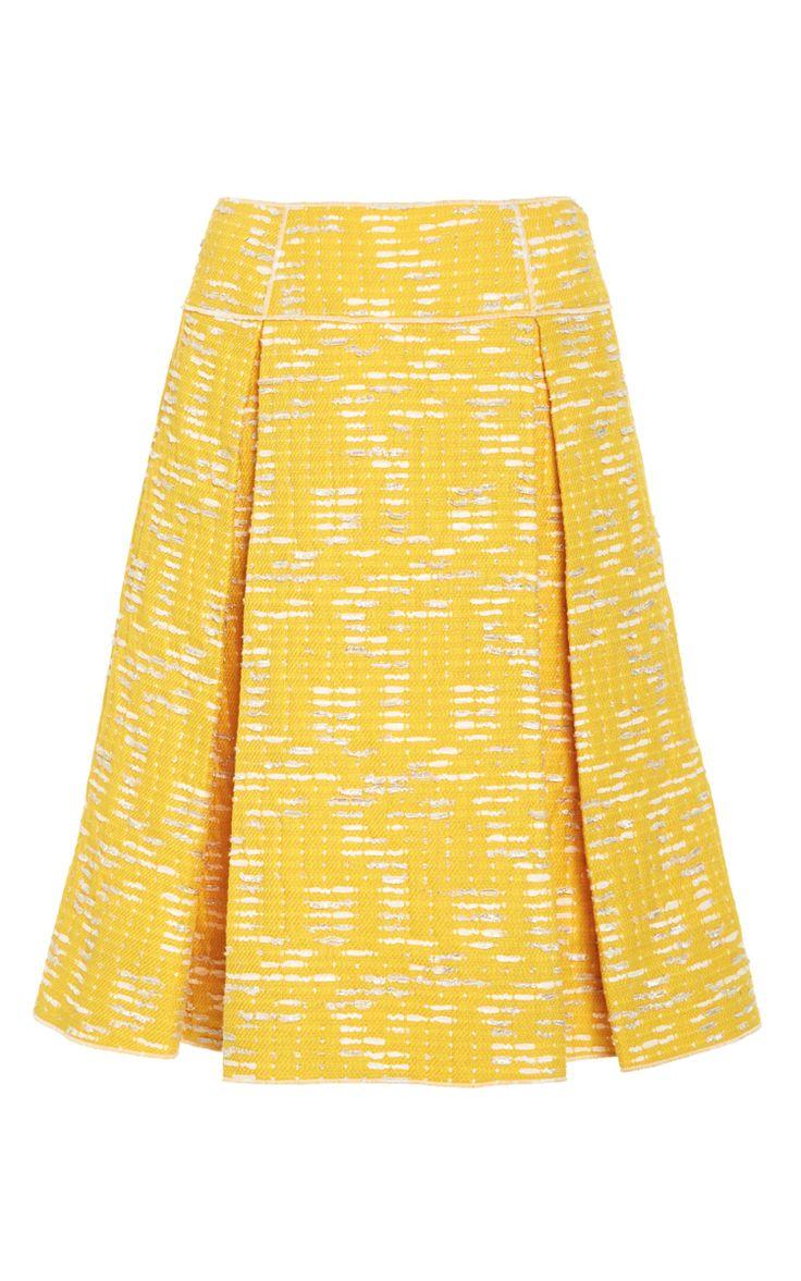 A-Line Invert Pleat Skirt by Oscar de la Renta for Preorder on Moda Operandi