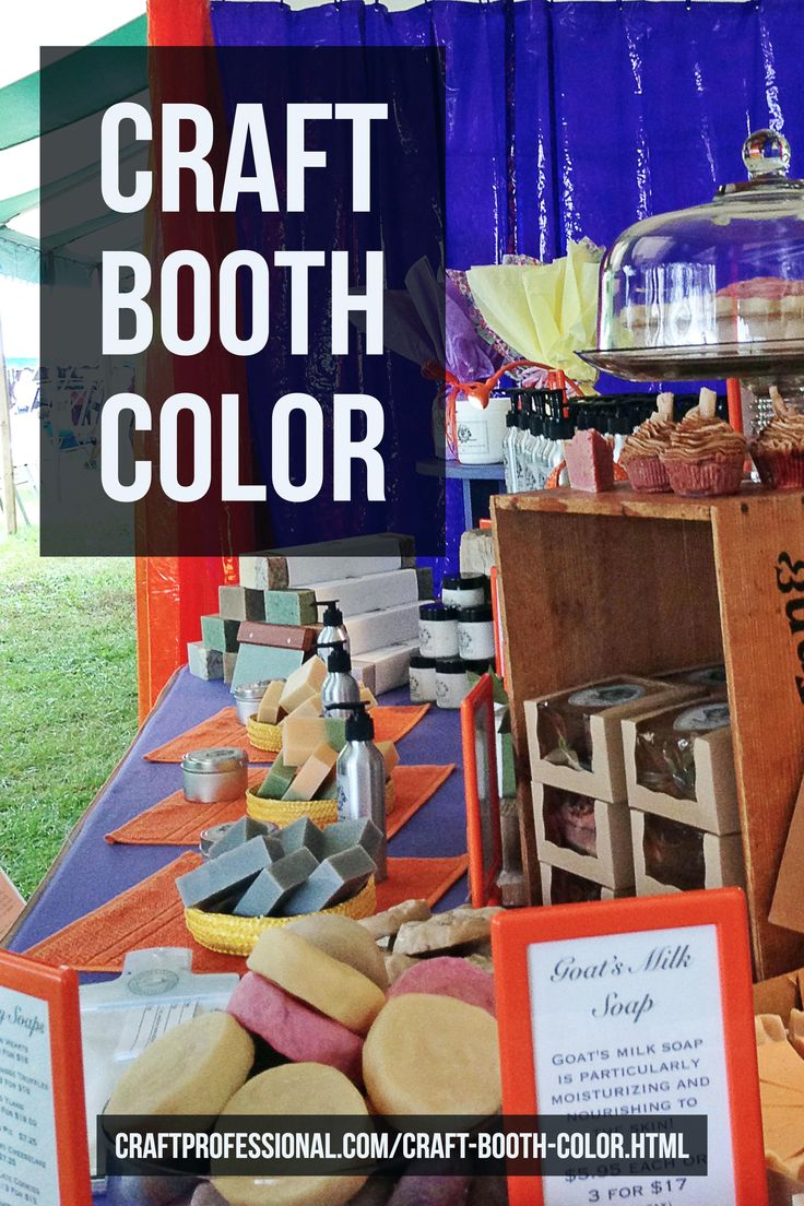 Better color for your craft booth >> http://www.craftprofessional.com/craft-booth-color.html