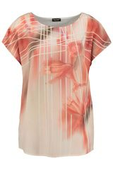 Gerry Weber - shirt met bloemen en grafische lijnen