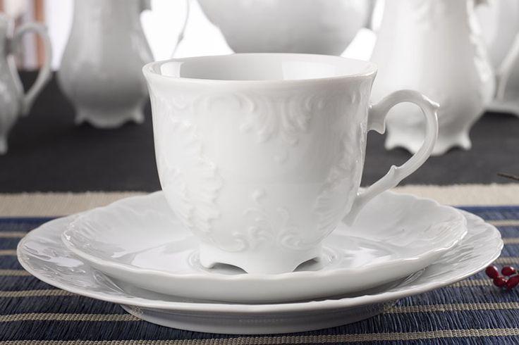 Oryginalny i najlepszy serwis porcelanowy z kolekcji ĆMIELÓW ROCOCO KLARA Serwis obiadowy i kawowy 72/12 0001