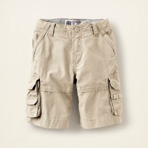 Boys cargo shorts blend well with this skin and add texture.  For littler boys, they look great with no shirt on.  That look is great for older boys too,  but only if they want to.  Older boys are usually not into it.
