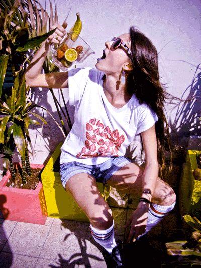 strawberry linocut on t-shirt by Studio Arturo - http://cargocollective.com/lesgorbiediarturo
