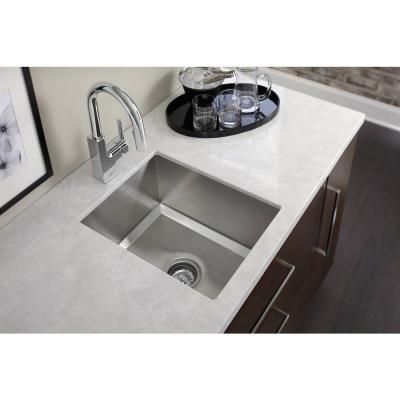 Moen 1600 Series Undermount Stainless Steel 16 In Single Bowl Bar Sink Sinkshome Depotbasinstainless