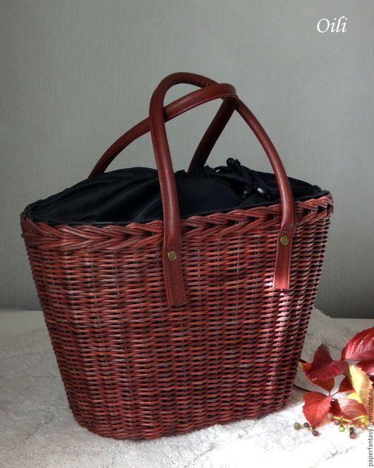 """Сумки и аксессуары ручной работы. Ярмарка Мастеров - ручная работа. Купить сумка плетеная большая """"Бордо"""". Handmade. Бордовый"""