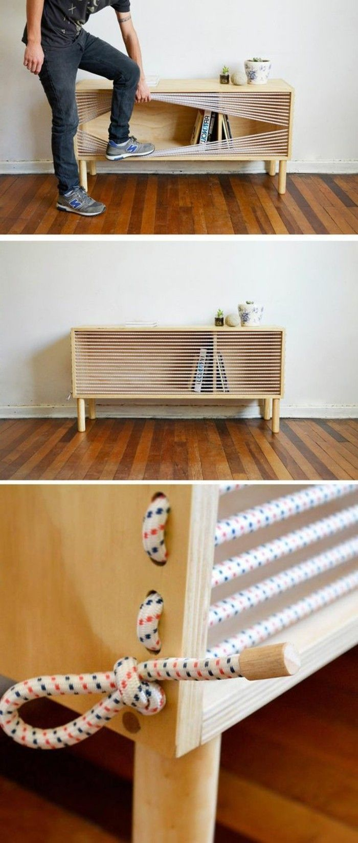 Diy Moebel Do It Yourself Moebel Kleiner Schrank Aus Holz Mit Seilen Do It Yourself Möbel Schrank Bauen Diy Möbel