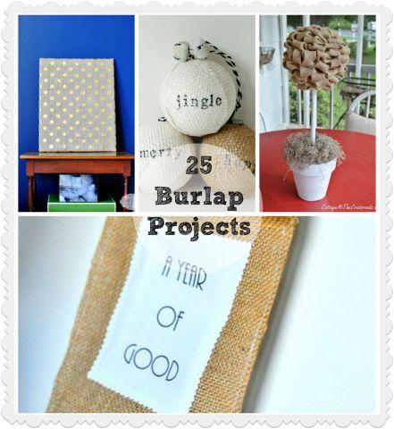 25 Amazing Burlap Projects!
