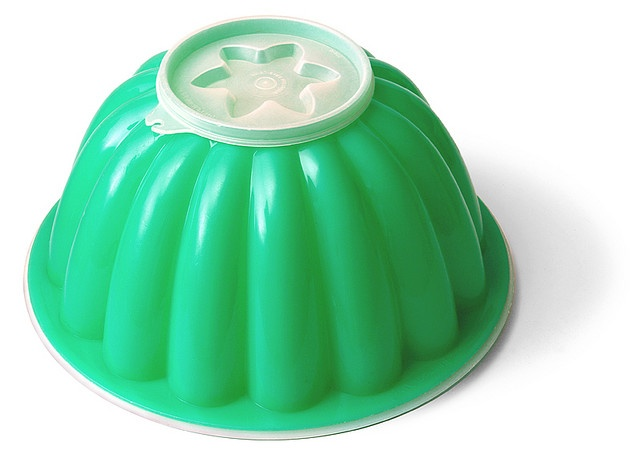 Tupperware - jelly mould. The top part had different designs - change for the season or occasion.