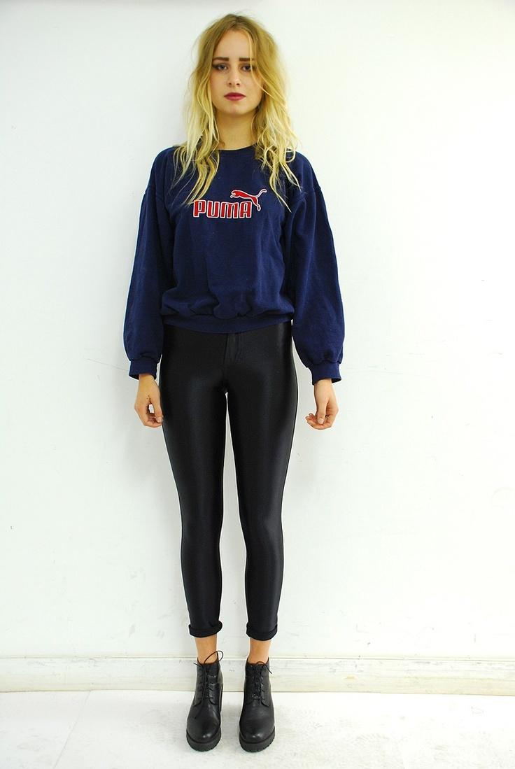 Retro Puma Sports Sweatshirt