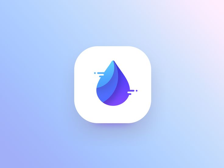 Water app icon – iOSUp