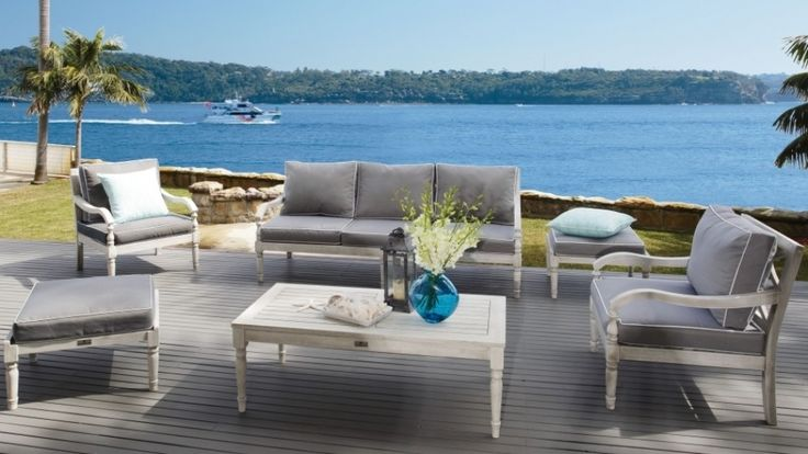 Marie 6 piece outdoor lounge suite outdoor living for Outdoor furniture harvey norman
