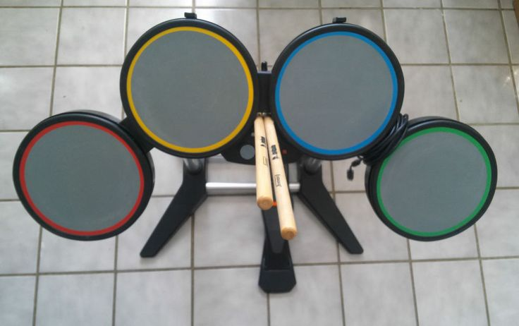 Rock Band Xbox 360 Wired Drum Set With Foot Pedal & Drum Sticks- Harmonix 822149 #Microsoft SOLD! THANK YOU!