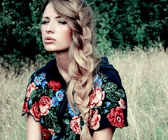 pretty plaits and floral dresses (but I like the hair!)