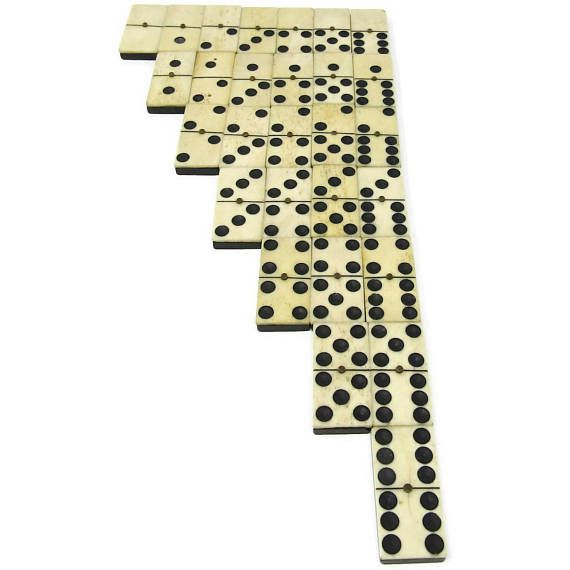 ☼❝ Civil War Era DOMINOES Rare Complete - Bone #Faces and Ebony Wood #Backs... Top http://etsy.me/2ze7qX2