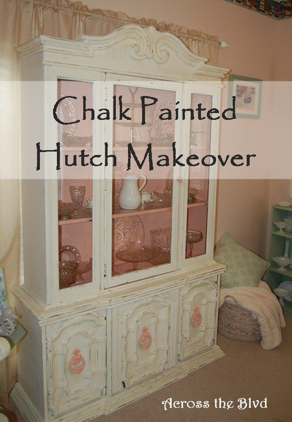 Hutch Makeover with Chalk Paint Across the Blvd