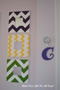 Painted Chevron Mirrors - DIY mom put me in charge of repainting the bathroom mirror so im thinking of doing this