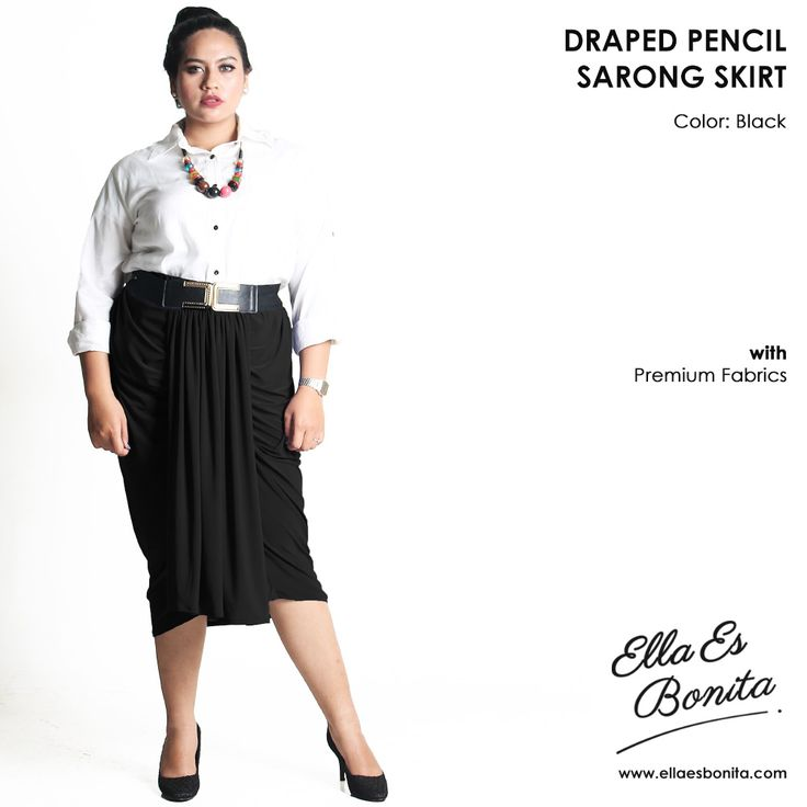 Draped sarong skirt, material Premium Jersey which specially designed for sophisticated curvy women originally made by Indonesian Designer & Local Brand: Ella Es Bonita. Available at www.ellaesbonita.com