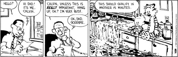 Calvin and Hobbes Comic Strip, August 28, 2014 on GoComics.com