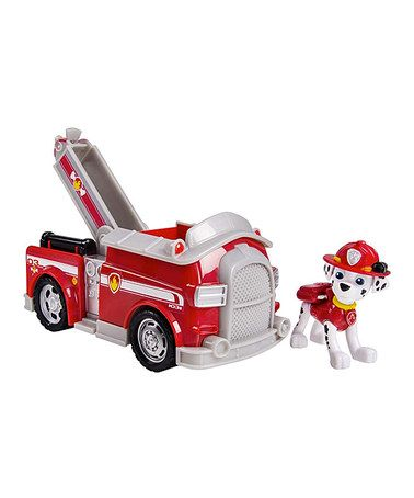 This Paw Patrol Firetruck & Marshall Toy Set is perfect! #zulilyfinds