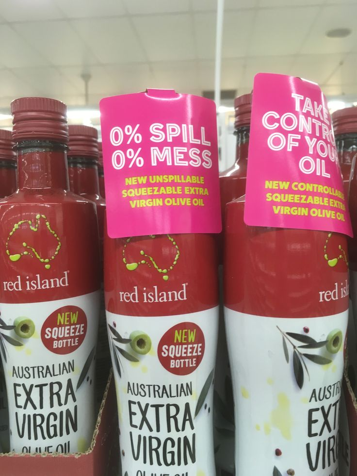 Red Island Olive Oil NEW squeezable pack messages