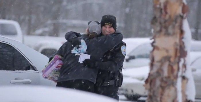 Video Shows Cops Surprising Drivers With Huge Gifts On Their Wish Lists