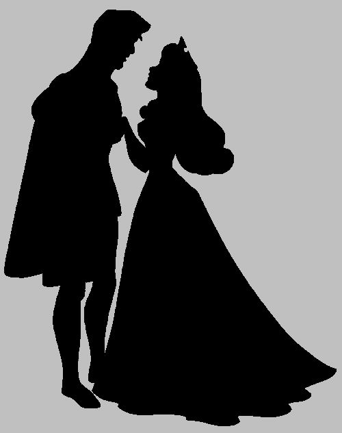 sleeping beauty silhouette - Aurora and Phillip