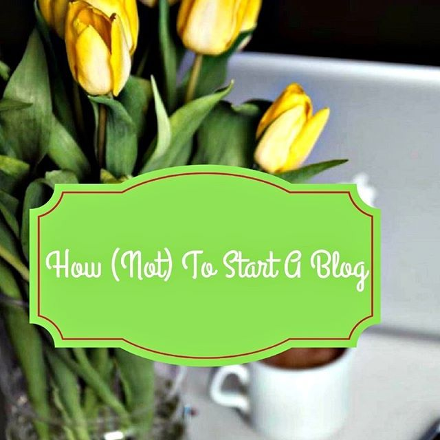 Wanna start a blog? Don't do it the way I did it!  #blog #start-a-blog #blogging #wehearthandmadebling