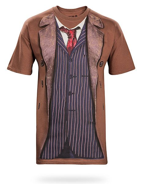 ...It would make my life 15x better to see David Tennant in this...  ThinkGeek :: 10th Doctor Costume Tee