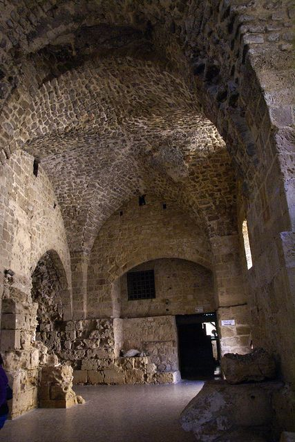 Crusader Ruins in Acre Israel