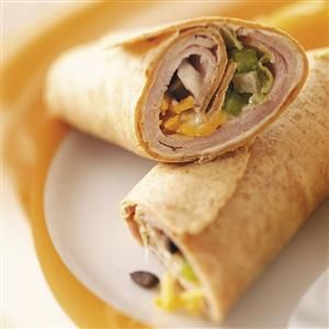 Speedy Lunch Wraps Recipe -This is such a yummy quick lunch. I served one to my sister and a week later she told me that her husband and kids couldn't stop raving about them! —Mary Roberts, New York Mills, Minnesota