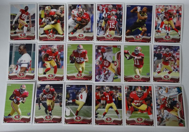 2013 Topps San Francisco 49ers Niners Team Set of 18 Football Cards #SanFrancisco49ers