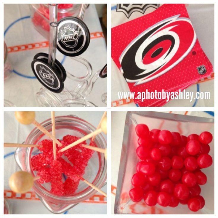 Carolina Hurricanes Hockey Favors and Decor Birthday Party @Carolina Krupinska Hurricanes