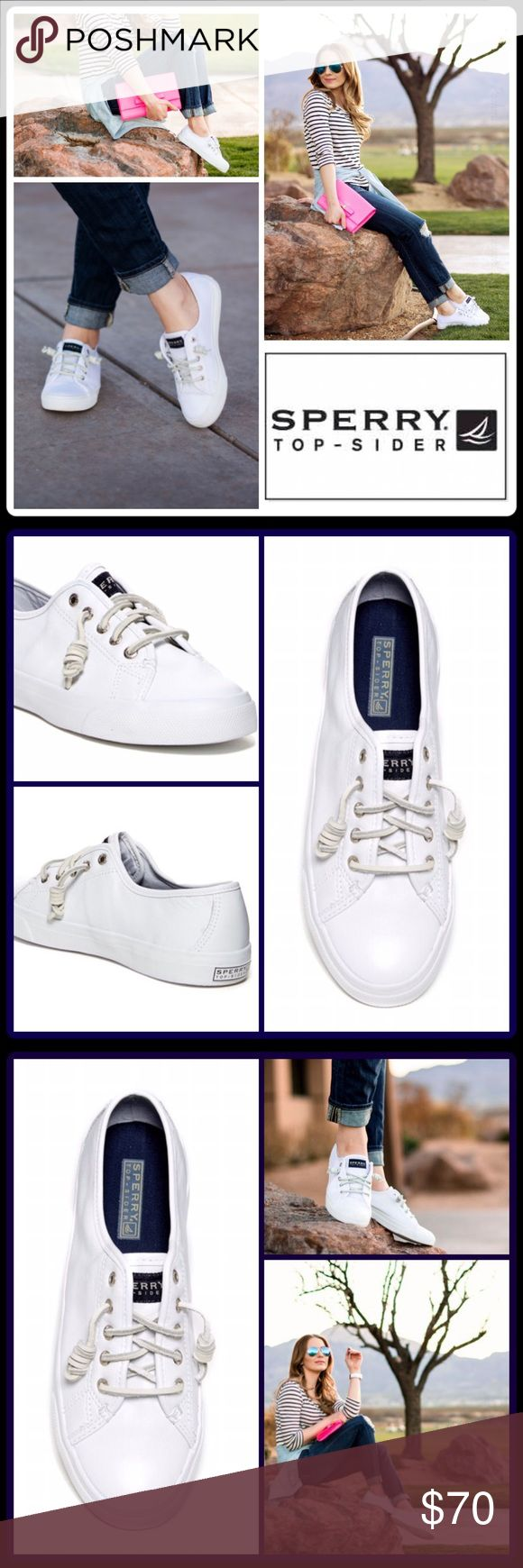 """💠JUST IN💠 30% BUNDLE SALE 💠 SEACOAST SNEAKER Fun fact: Sperry invented the boat shoe in 1935! Same sailing sneaker that the US Navy chose because it """"sticks like barnacle.""""  -Sizing: True to size -Round bumper toe - Lace-up detail - Hidden inside goring - Leather construction - Topstitched detail - Slip-on  - Removable insole - Grip sole  🛍 2+ BUNDLE=SAVE  ‼️NO TRADES  💯 Brand Items Authentic   ✈️ Ship Same Day--Purchase By 2PM PST  🖲 USE BLUE OFFER BUTTON TO NEGOTIATE   ✔️ Ask…"""