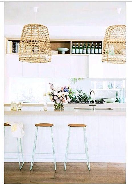 @themindchronicles #kitchen #white #mint #natural #interior #design #decor #interiordesign