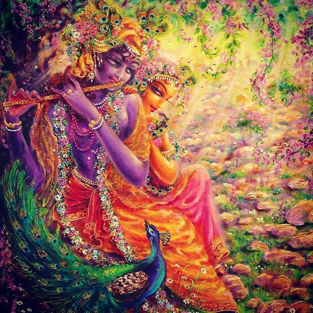 Instagram #Krishna #Radharani #Hinduism : Photo