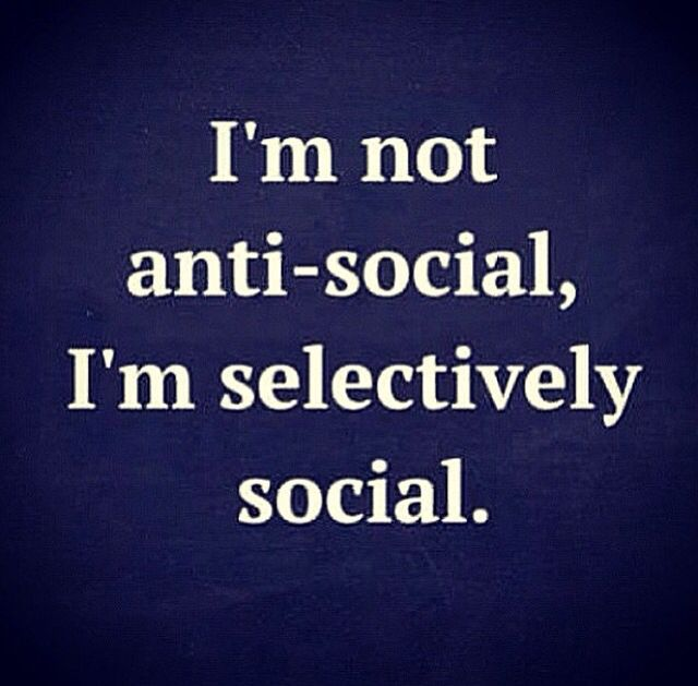 More and more selectively social these days