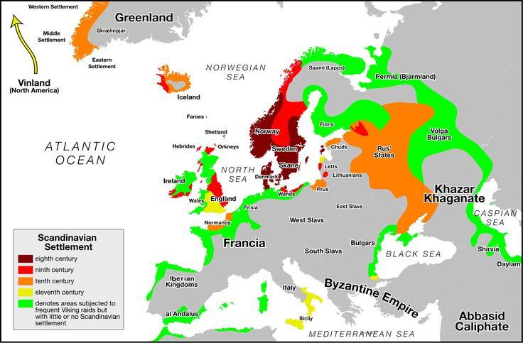 (c. 700-1000 CE) Scandinavian Settlement: