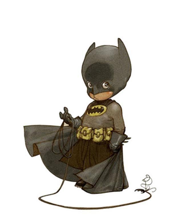 little batman-superheroes as kids by alberto varanda