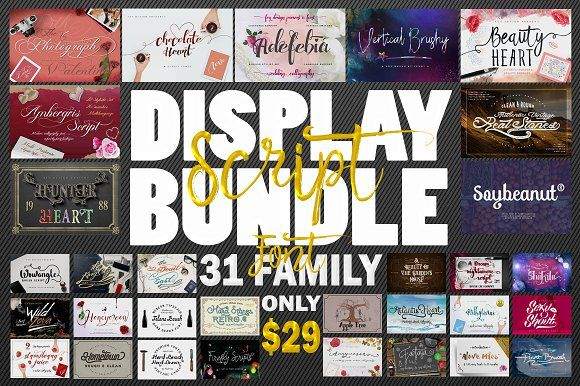 98% Off - Script Display Bundle  by feydesign on @creativemarket