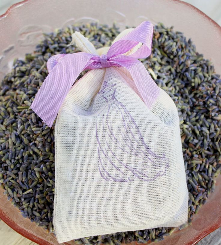 Hand-stamped Lavender Sachets - Set of 6 | A pretty little thank you to your bridesmaids or bridal shower... | Wedding Ceremony Supplies