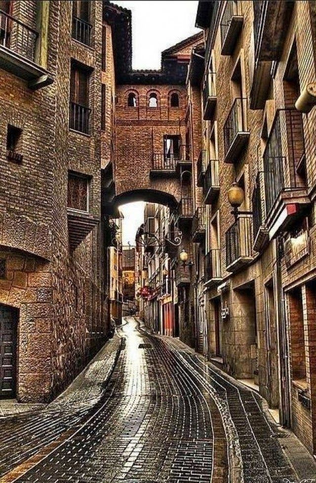Old streets, Madrid, Spain