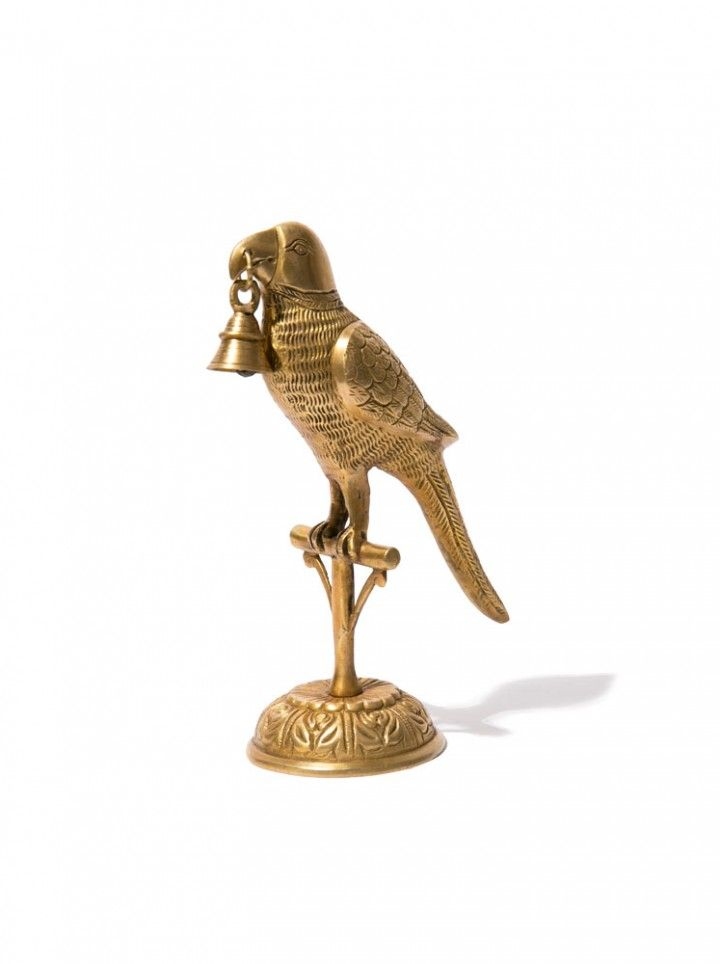 "<hr /> <p style=""text-align: left;"" align=""center""><span style=""font-weight: 400;"">Recycled Brass Parrot</span></p>   <hr />  <span style=""font-weight: 400;"">Talking about love at first sight! As we are always on the hunt for new treasures, we feel like we stumbled upon a real winner. What's not to love about this statement piece, visibly made with a lot of care and passion! This statue will for sure be a center piece in your interior. This is one of those items we feel be passed on for…"