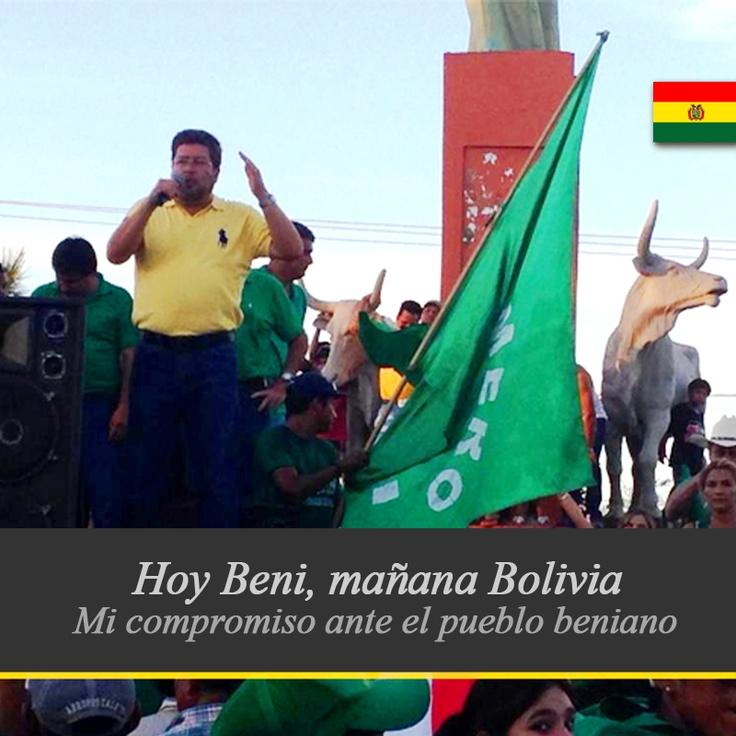 En el discurso de cierre de campaña hice el compromiso ante el pueblo beniano de seguir construyendo la Unidad.