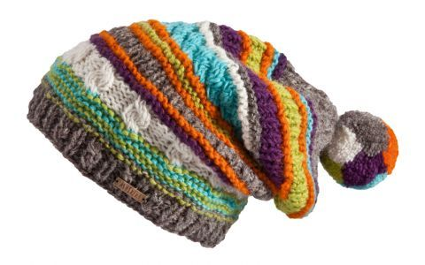 Great stripe pattern!  Love the pompom... think of all the different knit stitchs you could us to make your own unique hat.