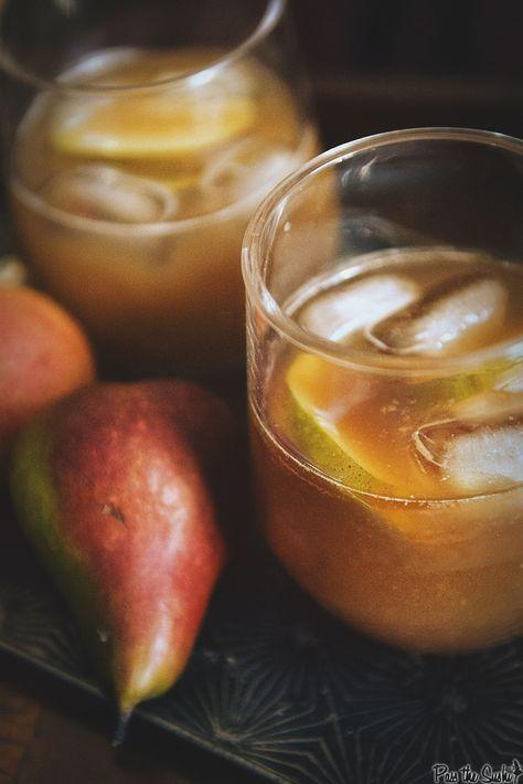 Pear-Ginger Rum Runner Cocktail