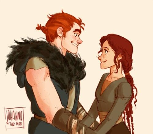 A young Stoic and Valka By Johanna the Mad.... Okay, I'm almost crying now.